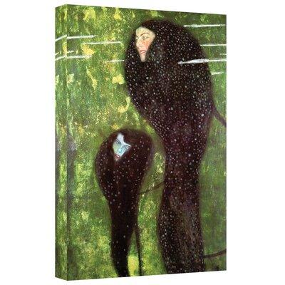 ArtWall ''Mermaids'' by Gustav Klimt Painting Print on Canvas