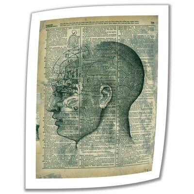 ArtWall 'Right Brain Thinker' by Elena Ray Vintage Advertisement on Canvas
