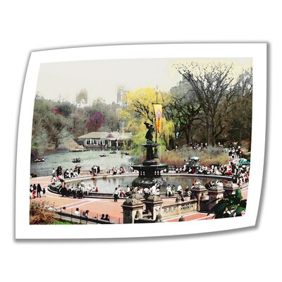 ArtWall 'Bethesda Fountain' by Linda Parker Photographic Print on Canvas