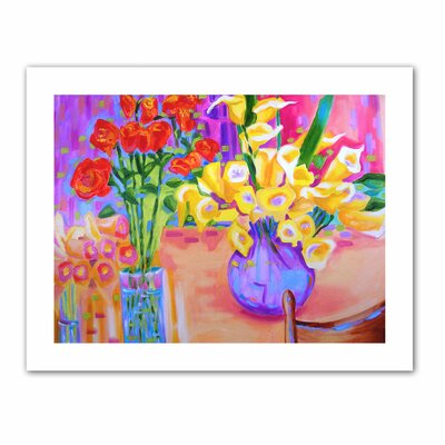 ArtWall 'Summer Flowers' by Susi Franco Painting Print on Canvas
