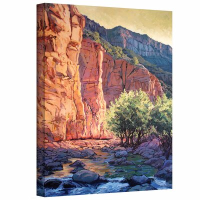 ArtWall 'The West Fork' by Rick Kersten Print of Painting on Wrapped Canvas