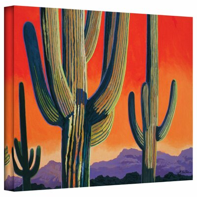 ArtWall 'Saguaro Dawn' by Rick Kersten Print of Painting on Wrapped Canvas