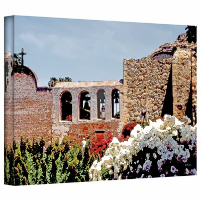 ArtWall 'Bells of Mission San Juan Capistrano' by Linda Parker Photographic Print on Canvas
