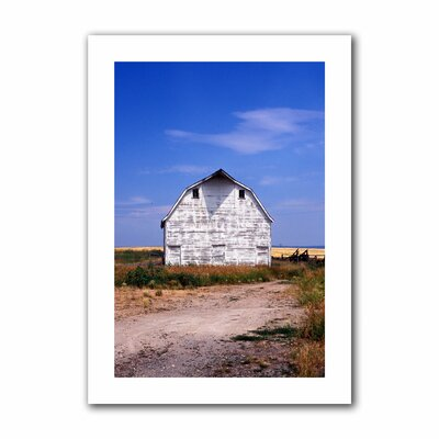 ArtWall 'Old White Barn' by Kathy Yates Photographic Print on Canvas