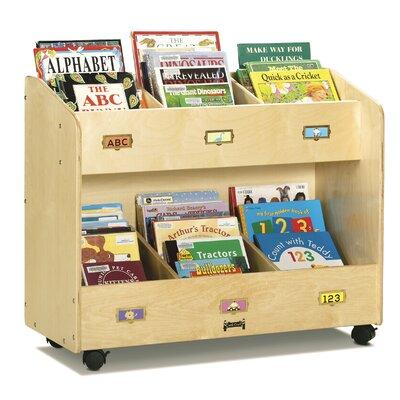 Jonti-Craft Mobile 6 Section Book Cart