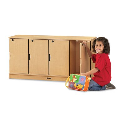 Jonti-Craft ThriftyKYDZ 4-Section Stacking Lockable Lockers