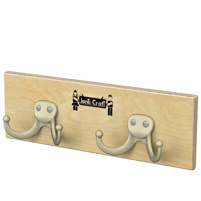 Wall Mount 2 Hooks Coat Rail