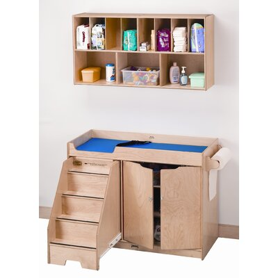 Left Changing Table with Stairs Combo