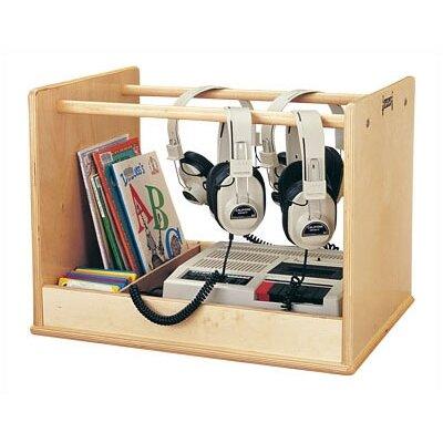 Jonti-Craft Audio Caddie Multimedia Tabletop Storage