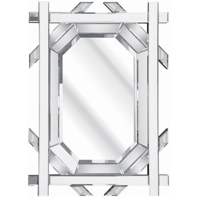 D & J Simons and Sons The Solitaire Criss Cross Mirror