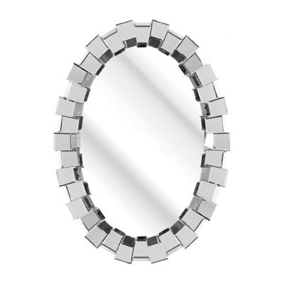 D & J Simons and Sons The Solitaire Oval Mirror
