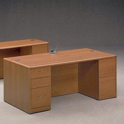 10700 Series Large Executive Desk Finish: Henna Cherry