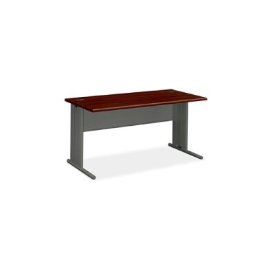 "Desk Shell Finish: Mahogany, Size: 29.5"" H x 48"" W x 29.5"" D"