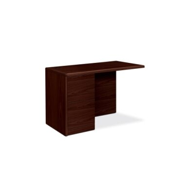 "10700 Series 29.5"" H x 48"" W Left Desk Return Finish: Mahogany"