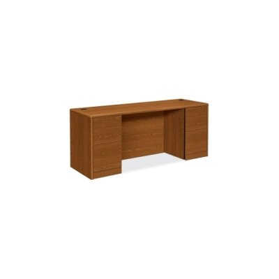 10700 Series Large Executive Desk Finish: Medium Oak