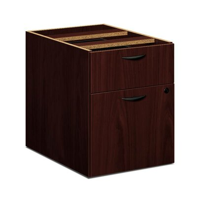 "BL Series 19.25"" H x 15.63"" W Desk File Pedestal Finish: Mahogany"