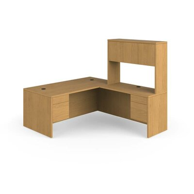 HON 10500 Series L-Shaped Computer Desk with Stack on Storage