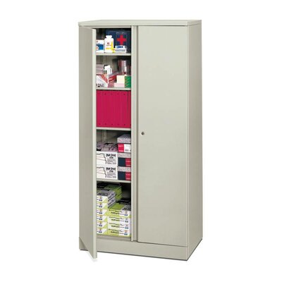 Basyx 2 Door Storage Cabinet Finish: Gray