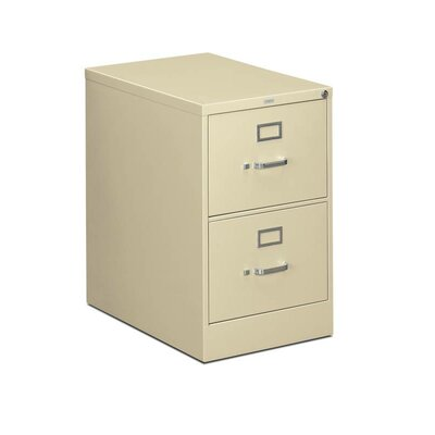 310 Series 2-Drawer Vertical Filing Cabinet Finish: Putty