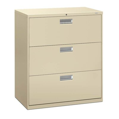 Brigade 600 Series 3-Drawer Lateral Filing Cabinet Finish: Putty
