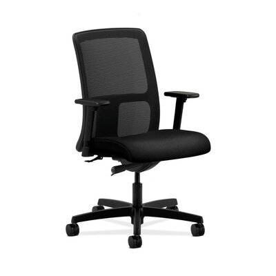 Ignition Mesh Desk Chair Upholstery: Iron, Arms: Fixed Arms, Seat Mechanism: Synchro Tilt, Back Angle, Seat Glide