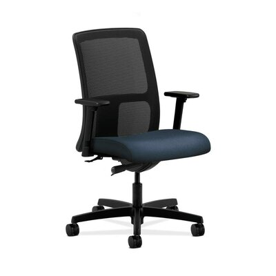 Ignition Mesh Desk Chair Upholstery: Blue, Arms: Adjustable Arms, Seat Mechanism: Center Tilt