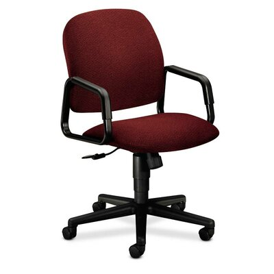 Solutions - 4000 Series Mid-Back Desk Chair Upholstery: Burgundy