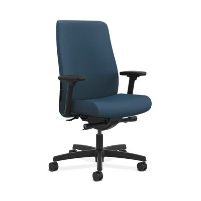 Endorse Executive Chair Arms: Adjustable Arms, Upholstery: Jet, Upholstery Material: Vinyl
