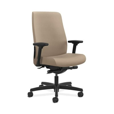 Endorse Executive Chair Arms: Adjustable Arms, Upholstery: Taupe, Upholstery Material: Vinyl
