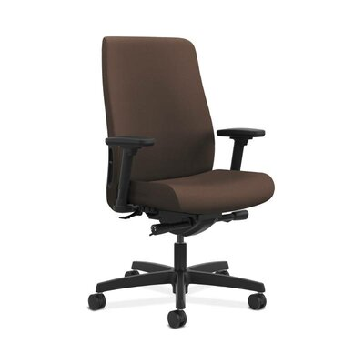 Endorse Executive Chair Arms: Adjustable Arms, Upholstery: Mocha, Upholstery Material: Vinyl