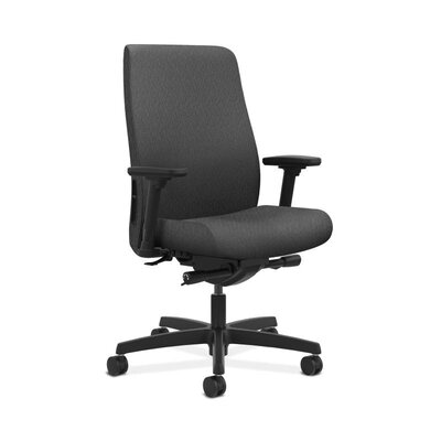 Endorse Mid-Back Desk Chair Upholstery: Charcoal, Arms: Fixed Arms