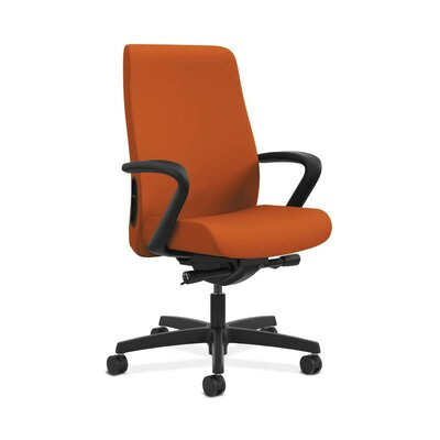 Endorse Mid-Back Desk Chair Upholstery: Tangerine, Arms: Fixed Arms