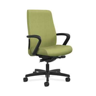 Endorse Mid-Back Desk Chair Upholstery: Lime, Arms: Fixed Arms