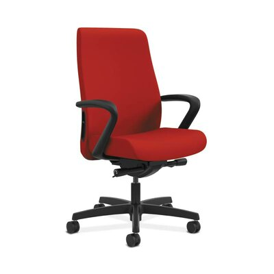 Endorse Mid-Back Desk Chair Upholstery: Tomato, Arms: Adjustable Arms