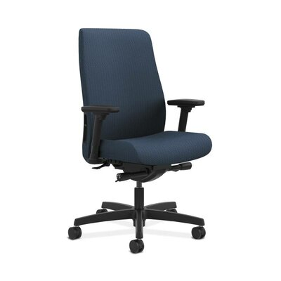 Endorse Executive Chair Arms: Adjustable Arms, Upholstery: Blue, Upholstery Material: Classic Fabric