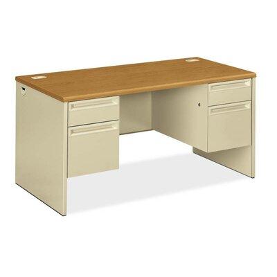 38000 Series Executive Desk Finish: Harvest/Putty