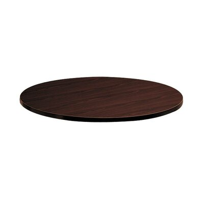 Preside Laminate Round Table Top Color: Mahogany
