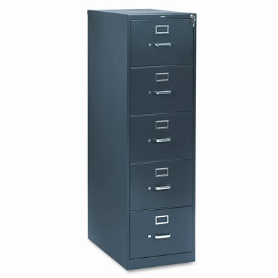 310 Series 5-Drawer Vertical Filing Cabinet Finish: Charcoal