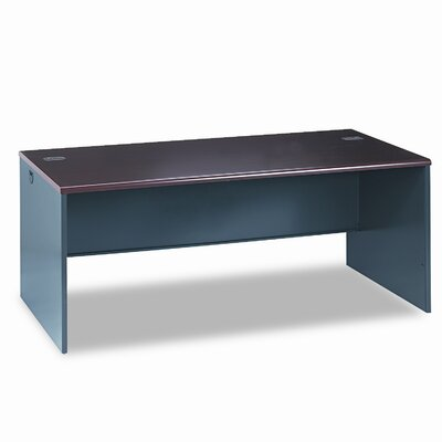 38000 Series Desk Shell Finish: Mahogany & Charcoal