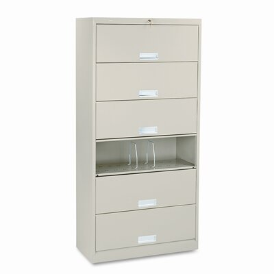 """600 Series 16.75""""D 6-Drawer Lateral File Finish: Putty"""