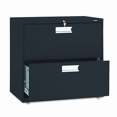 600 Series 2-Drawer File Finish: Black