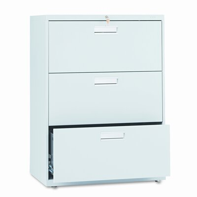 "600 Series 30""W 3-Drawer File Finish: Light Gray"