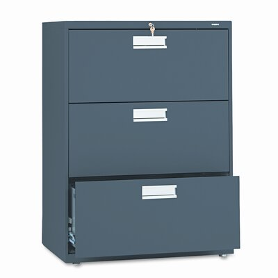 """600 Series 30""""W 3-Drawer File Finish: Charcoal"""