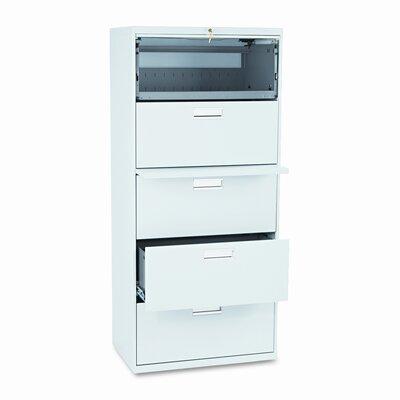 600 Series 5-Drawer File Finish: Light Gray
