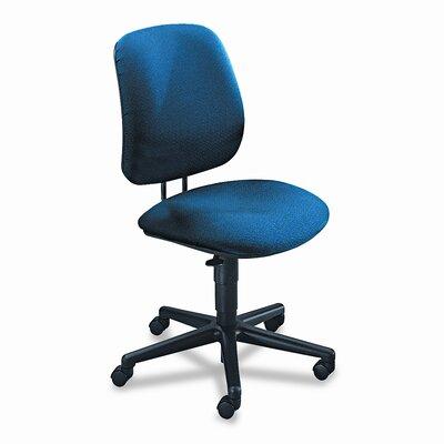 7700 Series Mid-Back Desk Chair Upholstery: Black