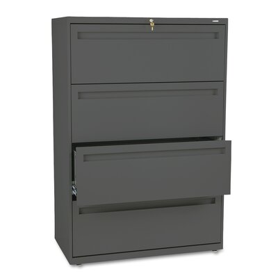 700 Series 4-Drawer File Finish: Charcoal