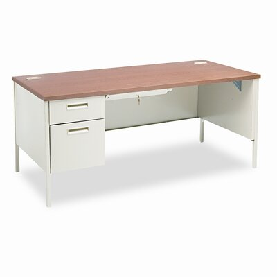 Metro Classic Desk Finish: Medium Oak, Orientation: Left
