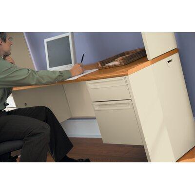 """38000 Series Desk Finish: Medium Oak/Putty, Size: 29.5"""" H x 72"""" W x 24"""" D"""