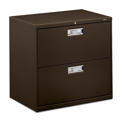 600 Series 2-Drawer File Finish: Charcoal