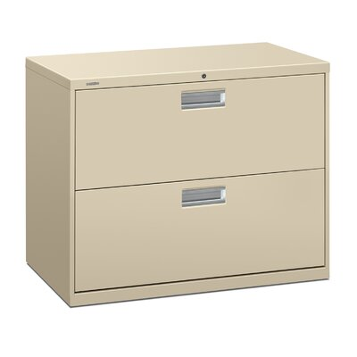 Brigade 600 Series 2-Drawer Lateral Filing Cabinet Finish: Putty